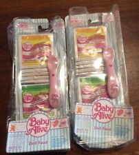 NIP Baby Alive Doll 20 Food Mixes w Spoon Sip n Slurp Hasbro 2007 2 Packages