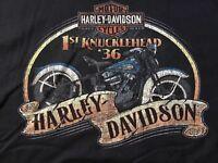 Harley Davidson 1936 First Knucklehead black Shirt Nwt Men's Large
