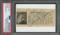 "EVERETT SLOANE (1909-1965) autograph cut   ""Citizen Kane"" - Signed PSA/DNA cert"