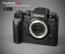 LIM'S Genuine Leather Half Case Dovetail Plate for Fuji Fujifilm X-T4 XT4 Black