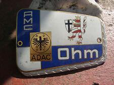 ADAC Club AMC Ohm PLACCA CAR BADGE plaque RADIATORE Marburg-Biedenkopf