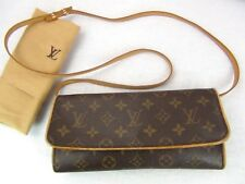 US seller Authentic LOUIS VUITTON MONOGRAM POCHETTE TWIN GM BAG LV CLUTCH