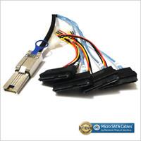 Mini-SAS SFF-8088 26P to 4 X SAS SFF-8482 29 Pin Cable 1 Meter