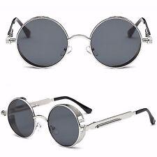 Steampunk Redondas Retro Gafas de sol gafas Blinder UV400 HOMBRE MUJER