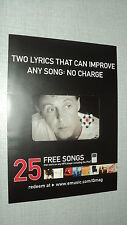 PAUL MC CARTNEY PUBLICITE QMAG FOR DOWLOAD 25 FREE SONGS