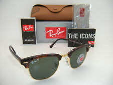 Ray-Ban Authentic Clubmaster 3016 990/58 49mm Havana Frame / Green Polarized