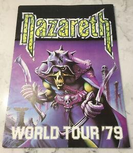 NAZARETH WORLD TOUR 1979 NO MEAN CITY CONCERT PROGRAM