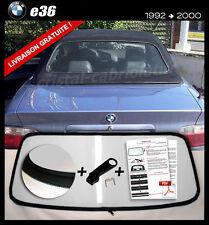 Lunette arrière BMW E36 Cab teinte TRANSPARENT fermeture éclair envoi gratuit