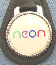 Vintage Dodge NEON Black Leather Keyring Key Fob 2000 2001 2002 2003 2004 2005