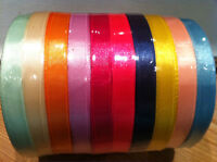 ROLL Of SATIN RIBBON 10mm width - 25 Yard/23 mtr - Many Colours