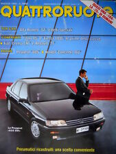 Quattroruote 415 1990 Top Car: Alfa Romeo SZ. Prova Peugeot 605 SVI. Uno45 [Q87]