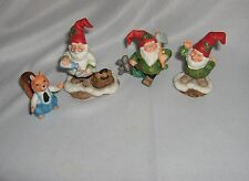 Fitz & Floyd 3 Piece Figurines Dr. B. Well + 3 Holiday Hamlet 1993 S5 Rare