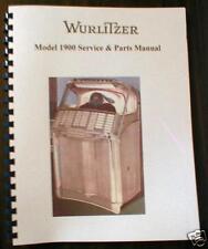 Wurlitzer Model 1900 Jukebox Manual