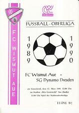 OL 89/90 FC Wismut Aue - SG Dynamo Dresden