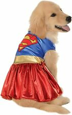 Supergirl Dog Costume - SMALL - Metallic Red/Blue/Gold - Embroidered -Rubies NWT