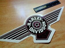 "BIG 14"" FATBOY Harley Davidson Motorcycle Window Decal Maroon Sticker Emblem hat"