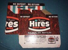 nos HIRES ROOT BEER 6 pack BOTTLE CARRIER Soda Pop Cardboard Advertising Sign