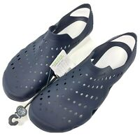 Crocs Swiftwater Wave Men's 9 Navy White Water Shoes Sandals New
