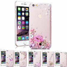 Girls Women New Bling Glitter Case Crystal Clear Slim Diamond Crown Cover #10