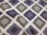 Aubergine/Grey Diamond Design Furnishing/Upholstery Jacquard Fabric.