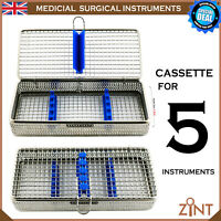 Instruments Cassette Box For 5 Implant Surgery Instruments Stainless Lab Tools