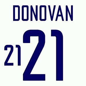 Donovan 21. USA Home football shirt 2002 - 2003 FLEX NAMESET NAME SET PRINT