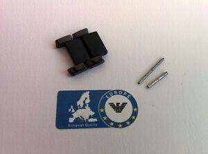 2 x Links to fit Emporio Armani Ceramic AR1452 Watch Two Tone Black Strap Men's