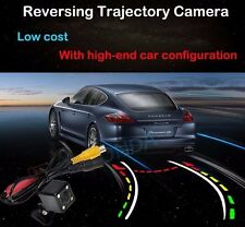 4 LED color Car Dynamic Track Rear View Reverse CCD Camera tracking For BMW