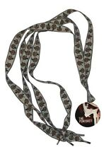 Shoelaces The Punisher Skull Logo OD Green And Brown