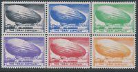 Stamp Replica Label Germany 0224 WWII Zeppelin Frankfurt Set MNH