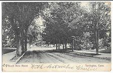 South Main Street Torrington Conn PPC 1906 PMK by Karl Bros, Litchfield to Luton