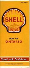 1941 Shell Road Map: Ontario NOS