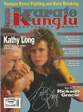 Kathy Long Signed 1995 Karate Kung-Fu Illustrated Magazine PSA/DNA COA UFC 1 MMA
