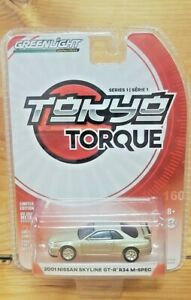 GREENLIGHT 1:64 ~ TOKYO TORQUE SERIES 1 ~ 2001 NISSAN SKYLINE GT-R R34 M-SPEC