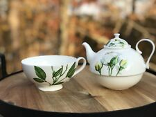 Jameson & Tailor Tea Set for One Pot and Cup Decor Floral Yellow