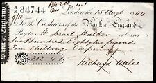 More details for bank of england, london, used order cheque, 18[44/47].