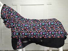 AXIOM 1800D BALLISTIC FANCY STAR/BLACK 220g HORSE COMBO RUG - 5' 6
