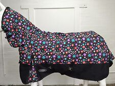 AXIOM 1800D BALLISTIC FANCY STAR/BLACK 300g HORSE COMBO RUG - 5' 9