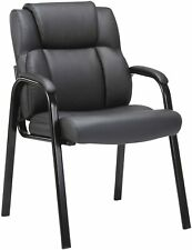 CLATINA Leather Guest Chair with Padded Arm Rest for Reception Meeting Guest