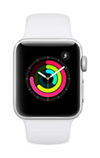 New Apple Watch Series 3 38mm Silver Aluminum Case with White Sport Band
