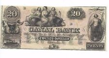1800s Canal Bank of  New Orleans, LA $20 Dollar Civil War Era Unsigned