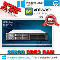 HP Proliant DL380 G7 2x 2.66Ghz Quad Core E5640 Xeon 256GB RAM 8x146Gb SAS P410i