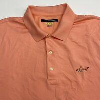 Greg Norman Play Dry Polo Shirt Men's 2XL XXL Short Sleeve Peach 100% Polyester