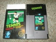 Tennis (Nintendo Entertainment System NES, 1985) Complete in Black Box GOOD