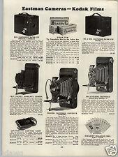 1930 PAPER AD 2 PG Eastman Kodak Hawk Eye Folding Camera Cartridge Box