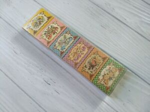 Vintage 1980 Crabtree & Evelyn Perfumed Scented Set of 6 Mini Soap Boxes