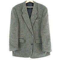 Harris Tweed 100%Wolle Grau Jacke Blazer Größe US/UK 42 Kurz Eu 52 Shorts