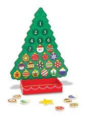 Melissa Doug Countdown to Christmas Wooden Advent Calendar - Magnetic Tree, 25