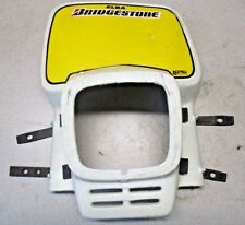 HUSQVARNA WR400 WR 400 1986 ENDURO HEAD LIGHT HOUSING W/ STRAPS ACERBIS VINTAGE