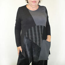 NEW NWT Alembika Fall Winter Plus Size Asymmetric Gray Tunic Blouse 6 (XL, 1X)